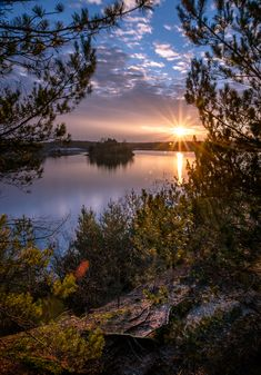 ~~Things Unsaid | sunset and serene lake landscape | by da-owl~~