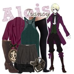 [Kuroshitsuji II] Alois Trancy by animangacouture on Polyvore featuring T By Alexander Wang, Commando, Madewell, Pretty Ballerinas, Lynn Ban, Bisou Bijoux Ariela, Coldwater Creek, anime, cosplay and BlackButler