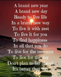 Brand New Day, Quotes About New Year, Live Life, Personal Development, In This Moment, How To Plan, Sayings, Happy, Lyrics