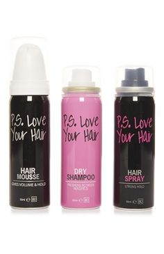 Festival Essentials: PS... Beauty 3 Pack Hair Mousse Shampoo Spray.