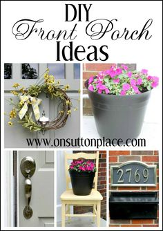 Easy and budget friendly DIY ways to update your front porch area.
