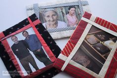 Day Three: Funky Fabric Photo Frame — The Inquiring Quilter Fabric Christmas Trees, Christmas Tree Ornaments, Christmas Wreaths, Christmas Gifts, Home Decor Dyi, Framed Fabric, Xmas Decorations, Christmas Photos, Creative