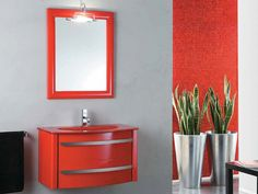 Wall-mounted vanity unit with drawers Zeus Collection by LA BOTTEGA DI MASTRO FIORE