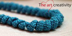 Collana a uncinetto torcigliata. #collana #uncinetto #azzurro #handmade