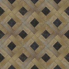 wood parquet + belgian blue stone