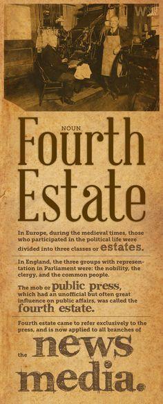 #eWord Fourth Estate: public press; media