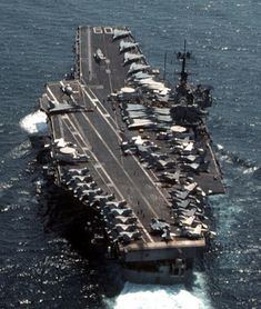 USS Saratoga CVA CV 60 Forrestal class aircraft carrier US Navy