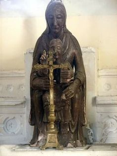 Statues, Chapelle, Medieval, Romanesque, Les Oeuvres, Madonna, Notre Dame, Buddha, Christ