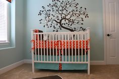 Check out our cute aqua kids rooms. Take an additional 10% with coupon Pin60 at www.CreativeBabyBedding.com