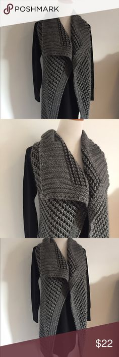 Black and Gray Sweater Vest Long length, soft knit made in Italy. NWOT. Never worn Berretti Sweaters