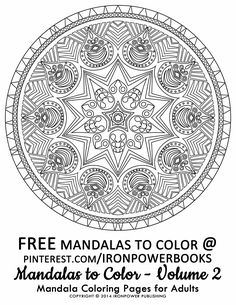 mandala coloring page free from ironpowerbooks great mandala inspiration for relaxation and meditation - Intricate Mandalas Coloring Pages