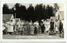 Colonists in my home town of Palmer Alaska...  founded in 1935-- part of FDR's New Deal act...  homesteaders from Wisconsin came to Alaska for a  fresh start......look at their expectant happy faces.....  a new life!!