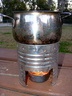 "Made these in scouts as kids, still use them to this day back packing.. Making a ""buddy burner"" and a Coffee Can Stove"