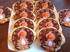 Turkey Cookies  (1 dozen) on Etsy, $36.00
