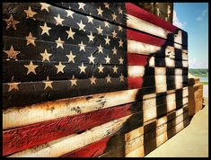 Rustic Wooden American Flags by AmericanFlagShop Old American Flag, Rustic Wooden American Flag, American Flag Pallet, American Flag Wall Art, Wooden Flag, American Racing, Flag Painting, Checkered Flag, To Color