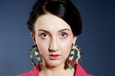'As Marias' by Maria Torres, 2014. Earrings. Enamel on metal. UCA Rochester BA(Hons) Contemporary Jewellery.
