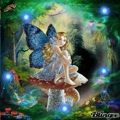 Gifs, Hades Gif, Happy Birthday Little Sister, Flowers Gif, Shiva Art, Butterfly Pictures, Beautiful Fairies, Glitter Graphics, Vintage Winter