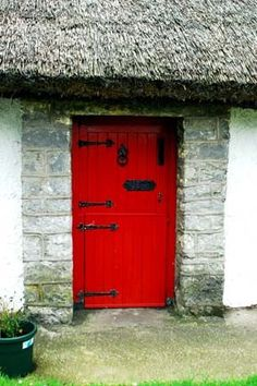 My mom says a house is never a home unless it has  a red front door. I found too many to count. I found home <3