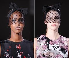 Spring 2015 Couture Accessories: Giambattista Valli Couture Spring 2015 Headwear  #headwear