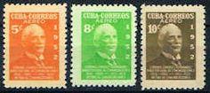 Cuba C63 - C65 Stamps - Colonel Sandrino Stamps - C CU C63 to C65-1 MNH