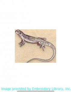 Stickmotiv Stickbild Aufnäher Stickerei Emblem Echsen  Echsen /  Stickerei Desert Iguana (M1260)