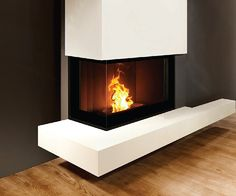 Fratac  hoekhaard   pellet haard  14 kW Pellet Fireplace, Wood Pellet Stoves, Modern Fireplace, Fireplace Design, Fireplaces, Living Room Modern, Interior Design Living Room, Living Room Decor, Feu A Pellet