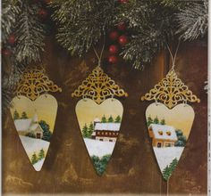 CHRISTMAS ORNAMENTS ON METAL