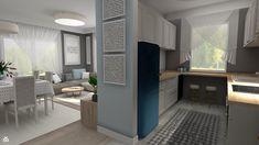 Kobiece wnętrze: beżowo-błękitne mieszkanie - zdjęcie od Feel-Project - Kuchnia - Styl Nowoczesny - Feel-Project