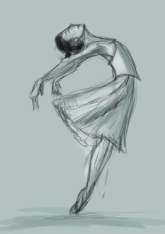 rough ballerina sketch stress reliever... may Finnish it when I have the time. - http://ift.tt/1HQJd81