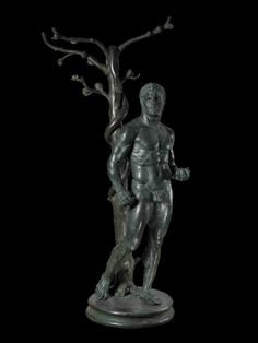 Roman Bronze - Hercules and the Apples of the Hesperides.