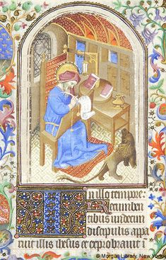 Book of Hours, MS fol. - Images from Medieval and Renaissance Manuscripts - The Morgan Library & Museum Medieval Books, Morgan Library, Book Of Hours, Historical Art, Painted Chairs, Illuminated Manuscript, Renaissance, Miniatures, Museum