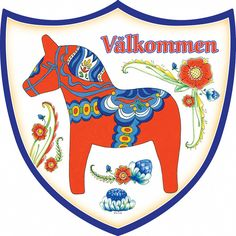 Ceramic Wall Shield: Red Dala Horse – ScandinavianGiftOutlet