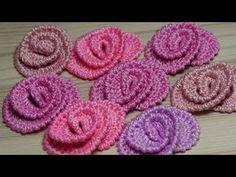 (275) Как связать маленькие РОЗОЧКИ - урок вязания крючком - crochet flower roses - YouTube