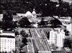 Aerial view of the State Capitol in Tallahassee, Florida.