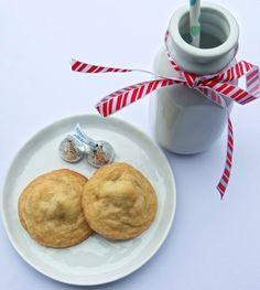 Boobie Cookies- Soft, blondie cookie dough enclosing a Hershey Kiss.  Hehe!!