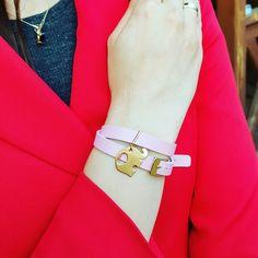 Lucky Elephant leather bracelet charms jewelry engraving słonik z grawerem bransoletka ze skóry naturalnej