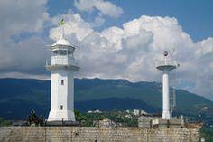 Alter Leuchtturm. Lizenzfreies Stockfoto