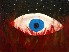 The Devils Eye - acrylic & plywood