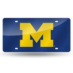 Michigan Wolverines Laser Cut License Plate - Blue
