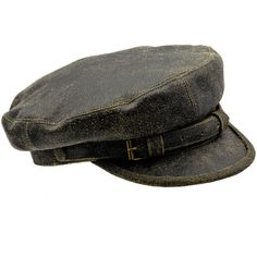Genuine distressed leather Fiddler Breton cap. Cap with lining. All... ($50) ❤ liked on Polyvore featuring accessories, hats, cap hats, lined hat, breton hat, breton cap and print hats
