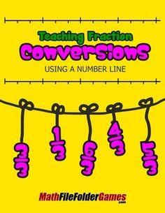 Teaching Fraction Conversions Using a Number Line http://www.teacherspayteachers.com/Product/Teaching-Fraction-Conversions-Using-a-Number-Line-1410399