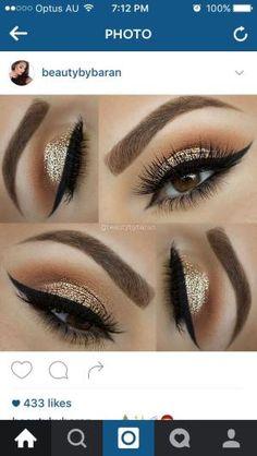 Gold glitter cut crease by estelle
