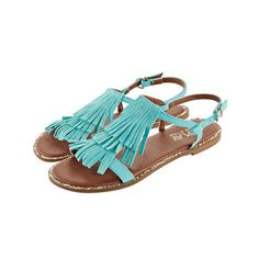 Sandale mit Fransen