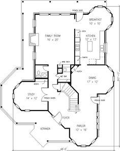 landhaus grundriss erdgeschoss mit 100 40 m wohnfl che. Black Bedroom Furniture Sets. Home Design Ideas