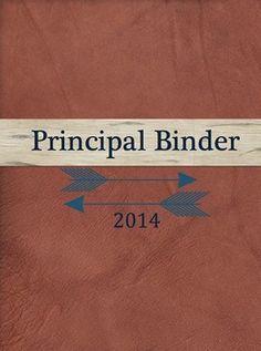 FREE Principal and Assistant Principal Organization Binder!!