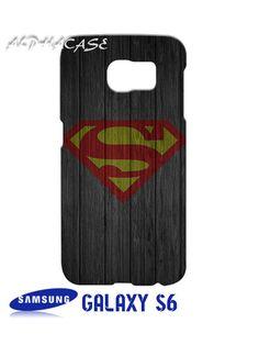 Super Man S On Wood Samsung Galaxy S6 Case Hardshell
