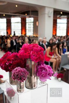 #mercury-glass, #centerpiece  Flowers + Event Design: Hatch Creative Studio - hatchcreativestudio.com Photography: Christian Oth Studios - christianothstudio.com/ Event Planning: Daughter of Design - daughterofdesign.com  Read More: http://stylemepretty.com/2012/01/12/new-york-city-wedding-by-christian-oth-studios-2/