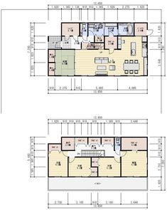 間取り 50坪 5LDK アイランドキッチン My House, House Plans, Floor Plans, Flooring, How To Plan, Architecture, Interior, Room, Arquitetura