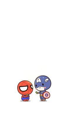 รวมพลซุปเปอร์ฮีโร่น่ารัก สไปเดอร์แมน และเพื่อนฮีโร ภาพพื้นหลังมือถือ Super Hero                     มนุษย์แมงมุม กับ ไอรอนแมน Cartoon Wallpaper Iphone, Cute Disney Wallpaper, Kawaii Wallpaper, Cute Cartoon Wallpapers, Avengers Cartoon, Marvel Cartoons, Baby Avengers, Spiderman Cute, Future Wallpaper