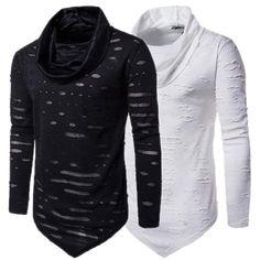 c95b6b2606 2018 Male Fashion Turtle Neck Long Sleeve Shirt